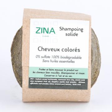 Shampoing solide pour cheveux colorés