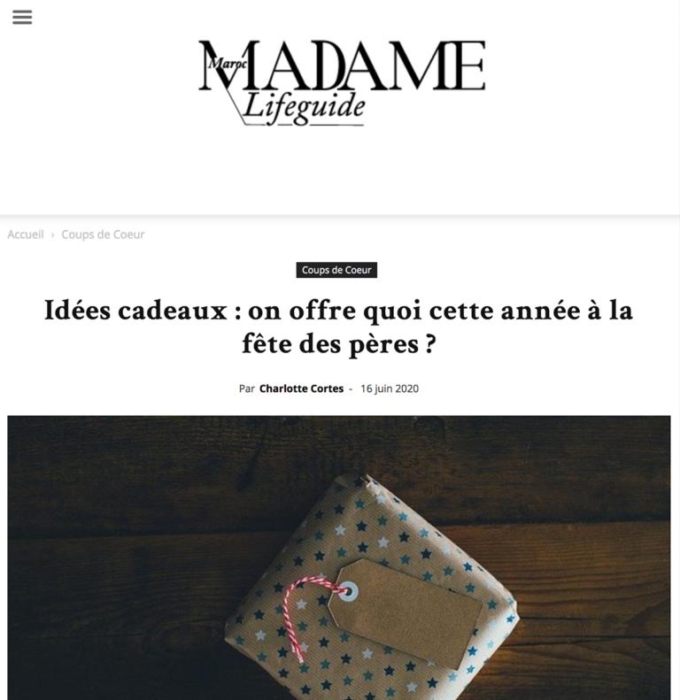 Zina Cosmetik - Presse - Ça va barber - Madame Maroc