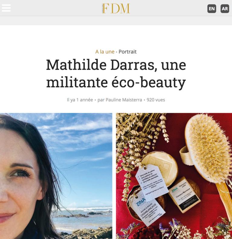 Zina Cosmetik - Presse - Interviews - FDM