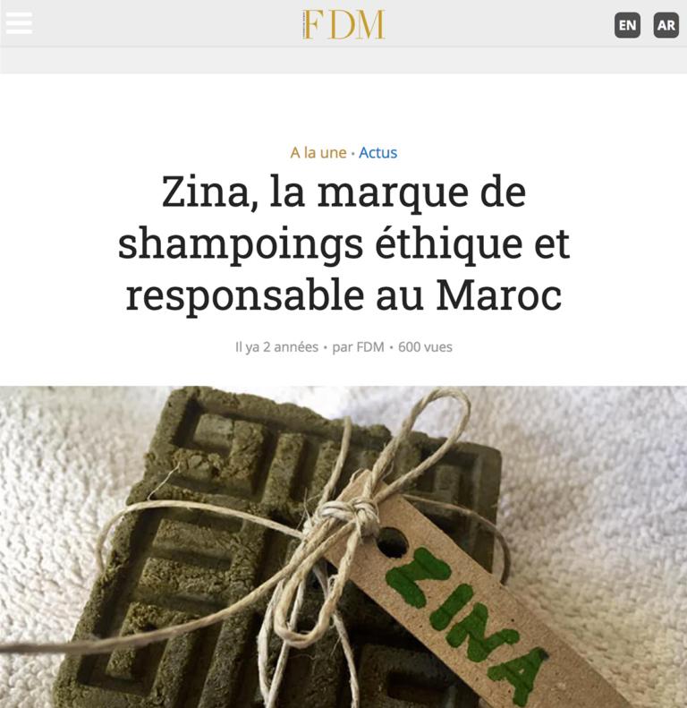 Zina Cosmetik - Presse - Lancement - FDM