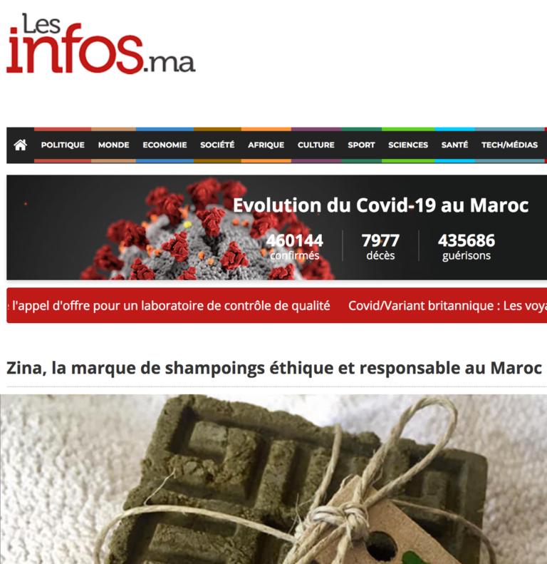 Zina Cosmetik - Presse - Lancement - Les infos