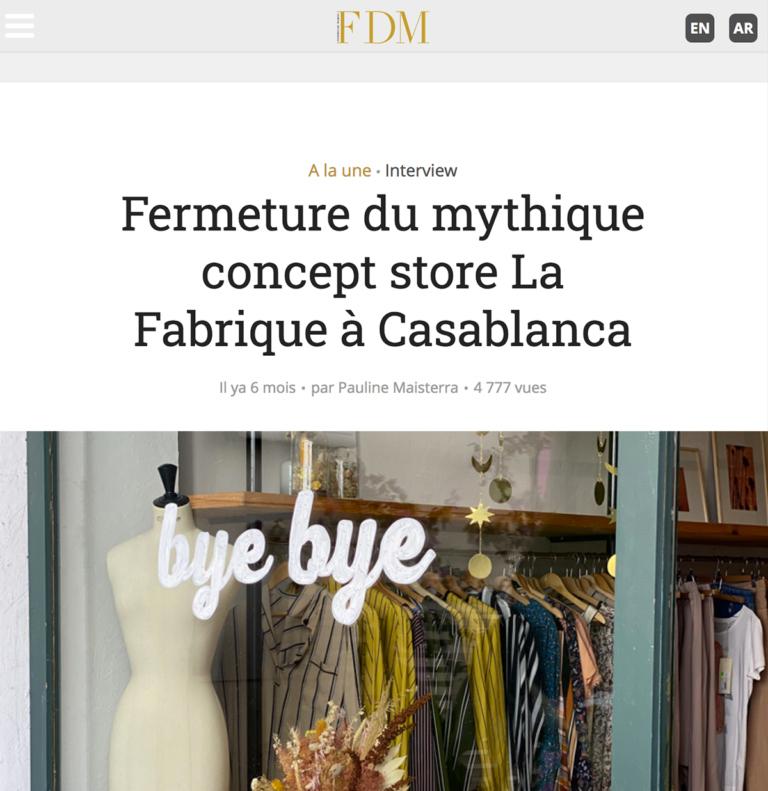 Zina Cosmetik - Presse - Remerciements - FDM